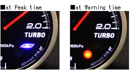 ADVANCE BF peak and warning LED